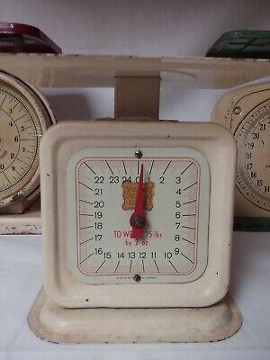 RARE~ Vintage 1940s SHUREWAY Family~ Kitchen Scale ~ 25 LB~White~Farmhouse Decor