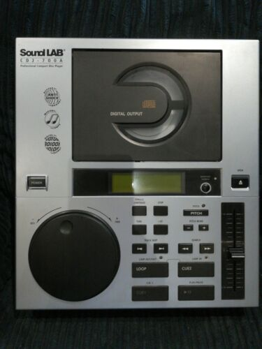 Sound Lab CDJ-700A DJ CD Player, boxed with power lead (UK & EU) & AV lead