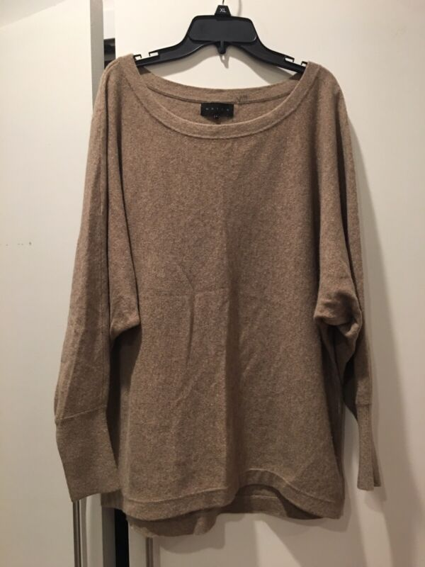 Hatch Collection 100% Cashmere Sweater Maternity  Size 2 Tan