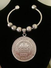Sterling Silver Cuff  with Crown Coin Bridgeman Downs Brisbane North East Preview