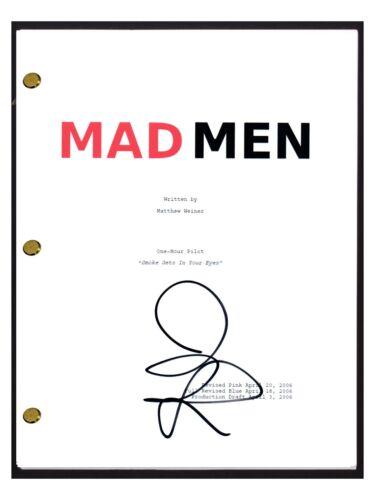 John Slattery Signed Autographed MAD MEN Pilot Episode Script Screenplay COA