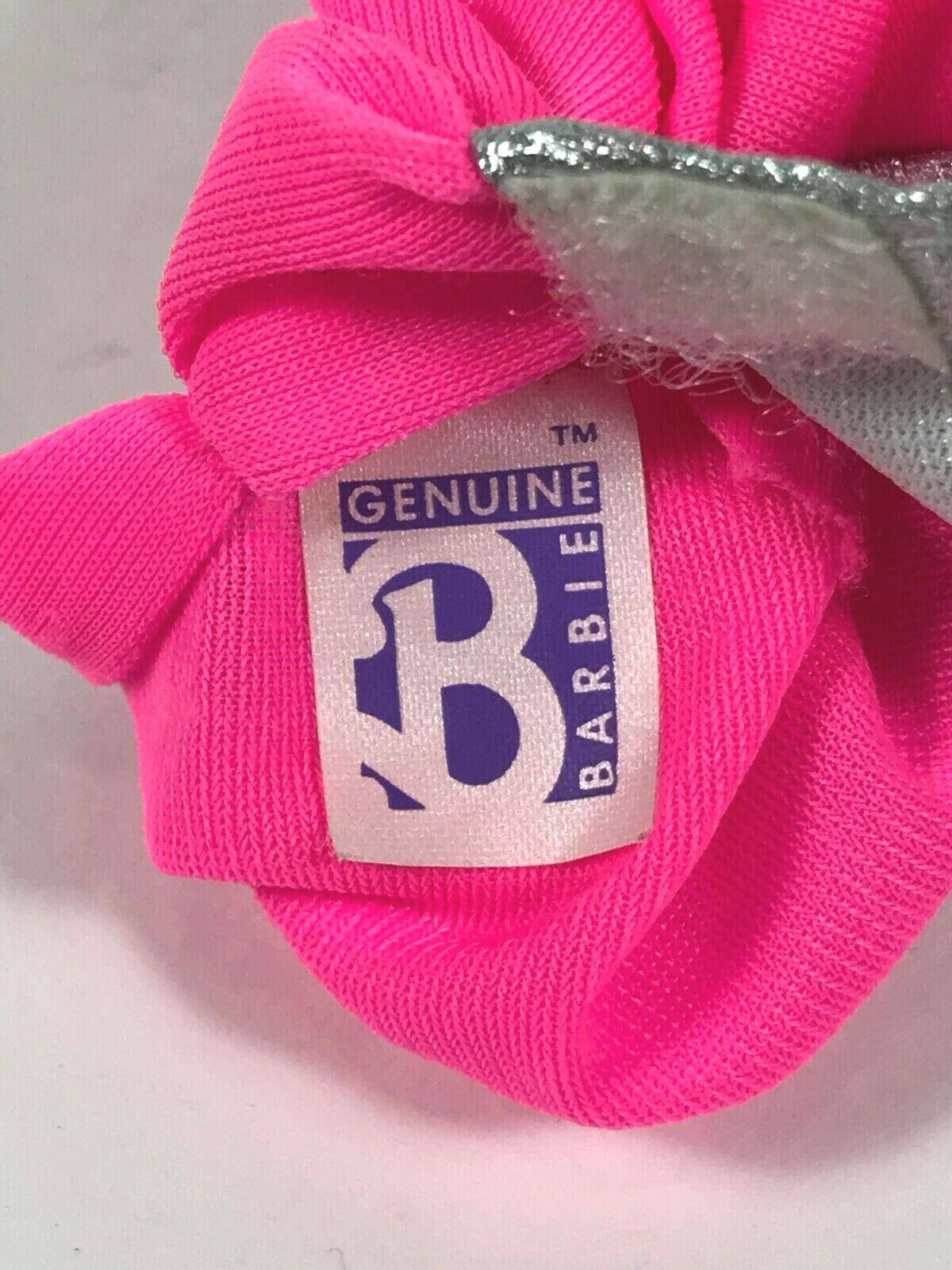 Vintage 1990 My First Barbie 4860 Easy On Fashions Pink Silver Dress Mattel - $7.99