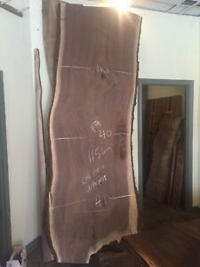 Rare and SPECTACULAR one piece Live Edge Walnut Dining Table!!