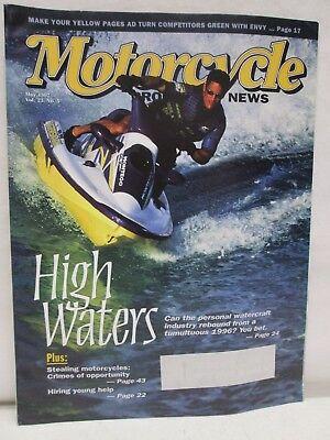 Motorcycle News Magazine May 1997 Arctic Cat Tigershark Personal Watercraft