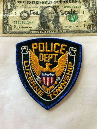Luzerne Pennsylvania Police Patch (Township) un-sewn in mint shape