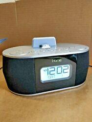 iHome Stereo Dual Alarm FM Clock Radio iPad/iPod/iPhone - iHome iD38