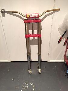 CR250r 03 Showa Fork triple clamps pro taper bars Noosaville Noosa Area Preview