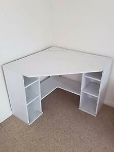 Large Corner Office Desk With Double Shelf Storage Wollstonecraft North Sydney Area Preview
