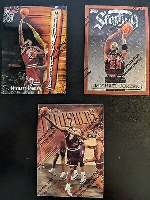 (3) RARE MICHAEL JORDAN TOPPS FINEST TRIO WITH COATING! MINT!! HOT!! ALL 3 CARDS