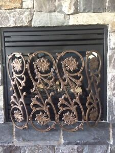 Iron fireplace guard