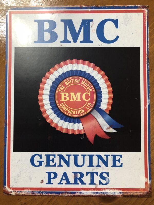Tin Sign Vintage BMC The British Motor Company Genuine Parts