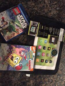 2 dvds , tablet holder 10$ for all