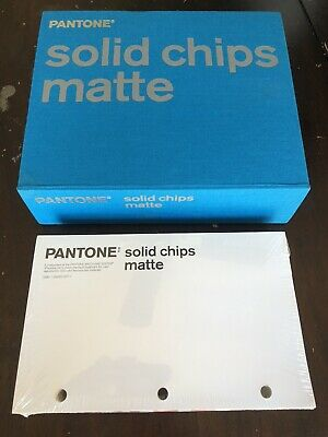 Pantone Solid Chips Matte Binder Book New Sealed Matching Color System