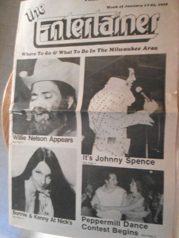 Article on Willie Nelson and Jerry Jeff Walker Milwaukee appearance in 1978
