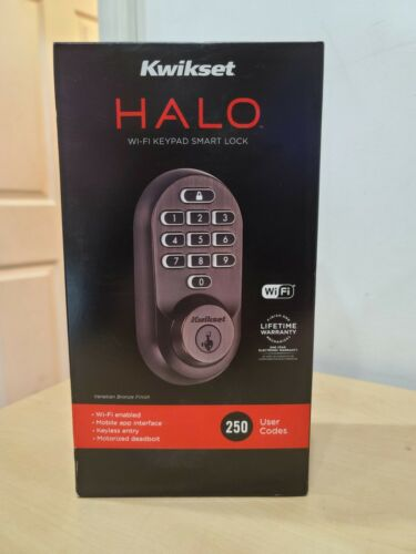 Authentic Kwikset Halo WI-FI Keypad Smart Lock (99380-002) Venetian Bronze - NEW