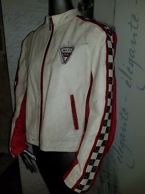 Rare Vintage Wilsons Leather Maxima REBEL Moto Club Racing Jacket Sz Large  EUC for sale  Shipping to India