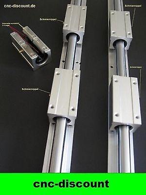 CNC Set 16x 1600mm 4x lange Linearwagen Linearführung Linear Guide Rail 3D Fräse