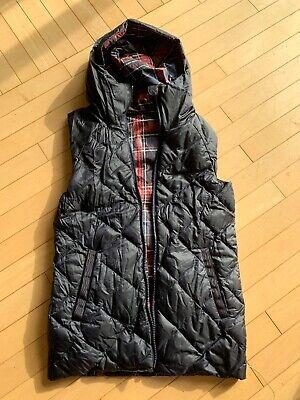 Lululemon The  Fluffiest Vest Reversible Navy Plaid Size 4 EUC