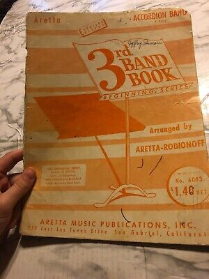 Accordion Band Aretta 3rd Band Book Beginning Series Sheet Music in 3 Parts