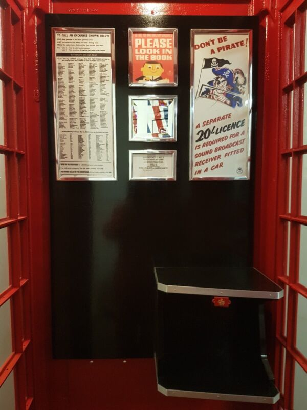 WITH COAT HANGER KIOSK RED TELEPHONE BOX CAST OF THE TOP FRONT OF K6 BOOTH