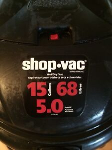 Shopvac 15 gallons balayeuse