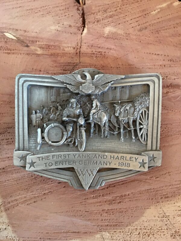 Harley Sidecar Pewter Belt Buckle