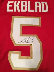 AARON EKBLAD - FLORIDA PANTHERS SIGNED AUTOGRAPHED JERSEY