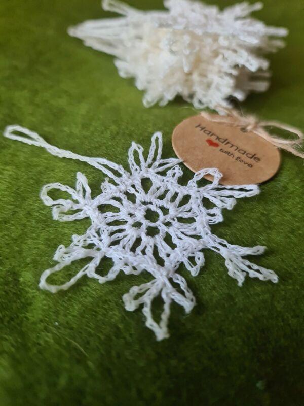 %E2%9D%84Handmade+Christmas+Decorations+White+Snowflakes+%E2%9D%84White+100%25++Small+Light+14pcs+