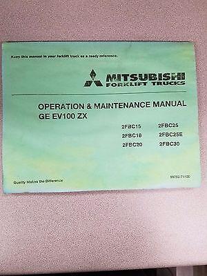 Mitsubishi Forklift 2fbc15 18 20 25 25e 30 Ge Ev100 Zx Maintenance Manual