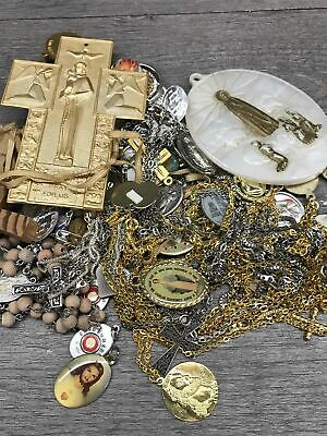 Lot of Religious Items w. Chain Necklaces