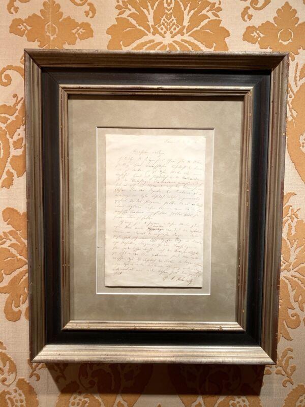 Hermann Von Helmholtz, Autograph letter 1856, museum quality. Physics,VisualSci