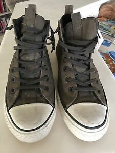 John Varvatos X Converse high tops brown size 10.5 mens