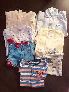9 pyjamas 0-3 mois garçon