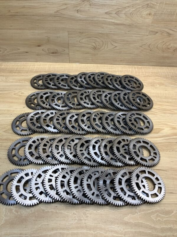 Lot Of 50 Industrial Machine Steampunk Pulley Gear Sculpture Lamp Base