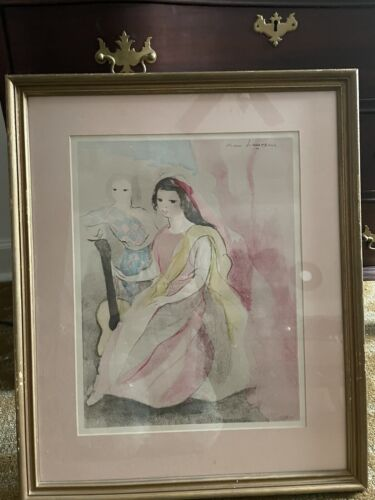 Marie Laurencin Signed Print Approximately 17 x21 Framed, Print Itself 15 x11  - $425.00