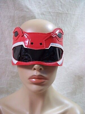 Adult Red Ranger 1/4 Eye Mask Bot Mighty Morphin Licensed Power Rangers Goggles (Red Power Ranger Mask)
