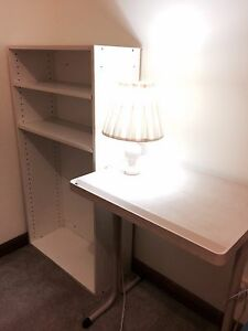 Table Lamp + Bedside Table + White Shelf Felixstow Norwood Area Preview