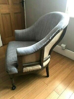 Occasional chair /Armchair, grey fabric, classic style