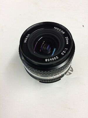 Nikon Nikkor 20mm, f/3.5 lens.  Pre-owned land in great condition