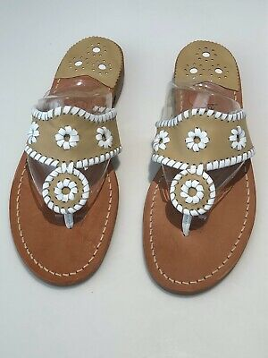 Jack Rogers Leather Sandals, size 6, width 6