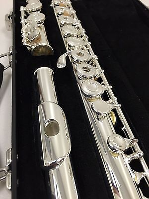 NEW Gemeinhardt model-3 Silver plated Flute, Open-Hole, C-foot, inline G