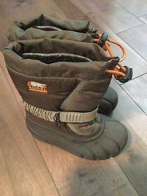 (Sorel Toddler girl or boy  Unisex Snow boots winter footwear brown size 11)