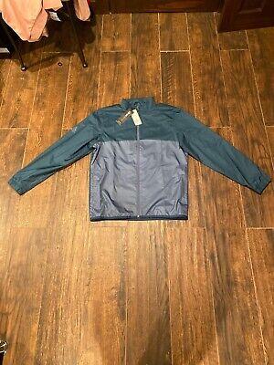 Mens L Adidas Golf Apparel Climastorm Softshell Jacket Full Zip Blue