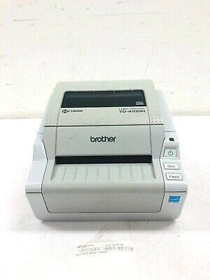 Brother Td-4100n Label Barcode Thermal Printer Ethernet Usb Serial No Pwr Supply