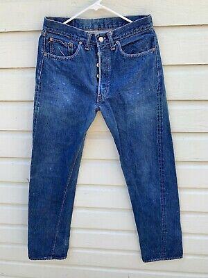 VTG 1970s LEVI'S 501 Redline Single Stitch Denim Jeans 33x38 (30x33) 1972-1976