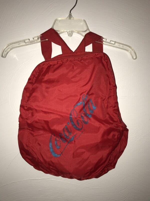 Vintage Coca Cola Backpack Bookbag Bag Red Turquoise