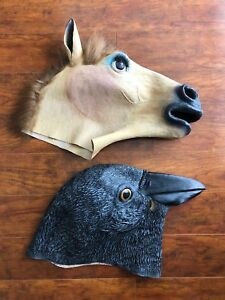 Horse & Crow heads (masks)