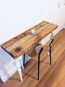 AUTHENTIC RECLAIMED WOOD CONSOLE TABLE HALL WAY FOYER VINTAGE