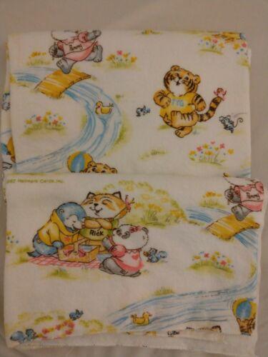 NEW Vtg 1980 Hallmark/Dundee Shirt Tales Receiving Blanket a