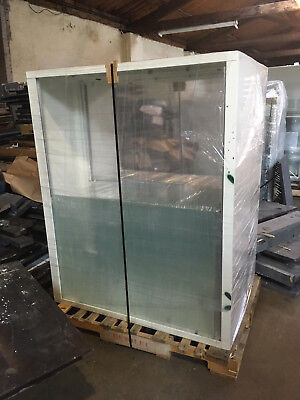Upper Reagent Glass Lab Cabinets With Sliding Glass Doors And Shelves 4x5